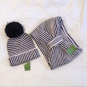 NWT Kate Spade Hat & Scarf Set